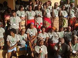 (Photo title: Graduating Community Health Advocates Photo credit: Arlindo Ramao)
